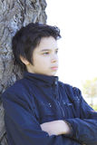 Thoughtful boy. Person sad pensive and worried Royalty Free Stock Images