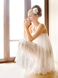 Thoughtful bride Royalty Free Stock Images