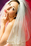 Thoughtful bride Royalty Free Stock Photography