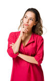 Thoughtful brunette woman. Stock Photography