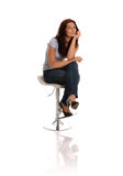 Thoughtful Business Lady Stock Photo