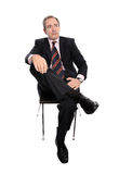 Thoughtful business man Royalty Free Stock Photos