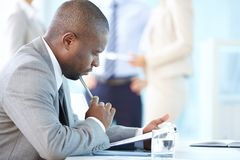 Thoughtful business Stock Images