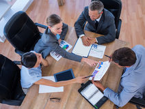 Thoughtful business people during meeting Stock Images