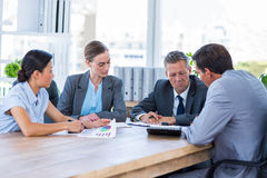Thoughtful business people during meeting Royalty Free Stock Photos