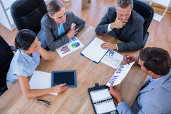 Thoughtful business people during meeting Royalty Free Stock Photo