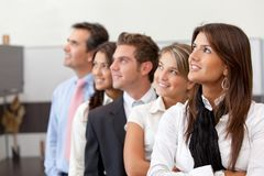 Thoughtful business team Stock Images