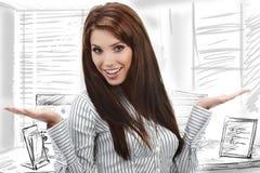 Thoughtful business woman Stock Photo