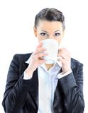 Thoughtful business woman Royalty Free Stock Photo