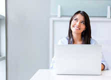 Thoughtful business woman Stock Photography
