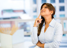 Thoughtful business woman Stock Image