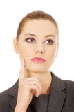 Thoughtful business woman. Stock Images