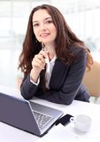 Thoughtful business woman Royalty Free Stock Image