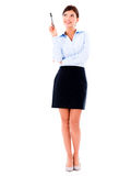Thoughtful business woman Royalty Free Stock Photos