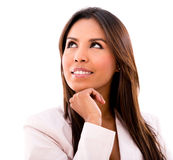 Thoughtful business woman Stock Images