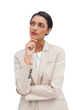 Thoughtful business woman standing Royalty Free Stock Image