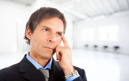 Thoughtful businessman Stock Image