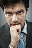 Thoughtful businessman Royalty Free Stock Image