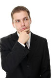 Thoughtful businessman Stock Images