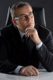 Thoughtful businessman. Royalty Free Stock Photo