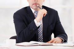 Thoughtful businessman. Stock Image