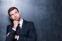 Thoughtful businessman. Royalty Free Stock Images