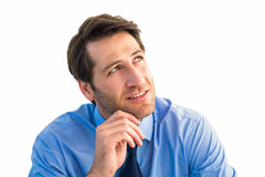 Thoughtful businessman looking away Royalty Free Stock Image