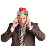 Thoughtful businessman Royalty Free Stock Images