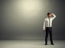 Thoughtful businessman looking forward Royalty Free Stock Image
