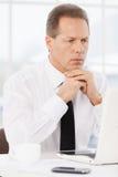 Thoughtful businessman. Stock Photos