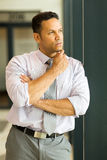 Thoughtful businessman in office Royalty Free Stock Images