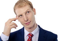Thoughtful businessman portrait Stock Photography