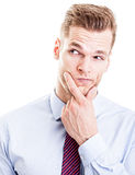 Thoughtful businessman Royalty Free Stock Photo