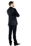 Thoughtful businessman,  Rear view image Stock Photo