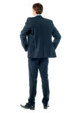 Thoughtful businessman, Rear view image Stock Images
