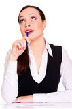 Thoughtful businesswoman Stock Photography