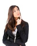 Thoughtful businesswoman Stock Photo