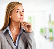 Thoughtful businesswoman Stock Photos