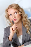 Thoughtful businesswoman Royalty Free Stock Photo