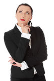 Thoughtful businesswoman Stock Image