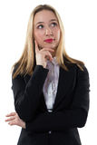 Thoughtful businesswoman with arms crossed Stock Photography