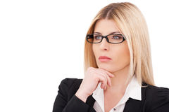 Thoughtful businesswoman. Royalty Free Stock Photos