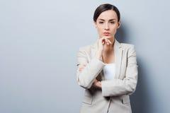 Thoughtful businesswoman. Royalty Free Stock Photo