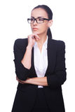 Thoughtful businesswoman. Royalty Free Stock Image