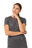 Thoughtful Businesswoman With Hand On Chin Royalty Free Stock Image