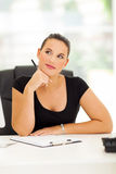 Thoughtful businesswoman Royalty Free Stock Images