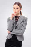 Thoughtful businesswoman looking away Stock Photography