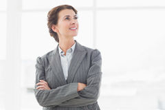 Thoughtful businesswoman looking away Royalty Free Stock Photography