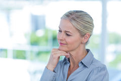 Thoughtful businesswoman looking away Royalty Free Stock Photo