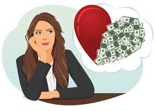 Thoughtful businesswoman Royalty Free Stock Image